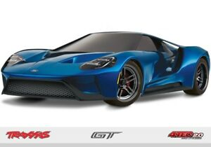 Traxxas Ford Gt Tec   Awd Racing Supercar Rtr Blue Trabl
