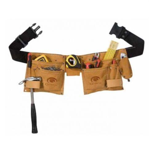 Gürtel Toolvizion QP Werkzeuggürtel mit 2 Taschen Spalt Veloursleder inkl