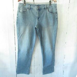 New Laurie Felt Boyfriend Jeans 14P Blue Classic Denim Ankle Crop QVC