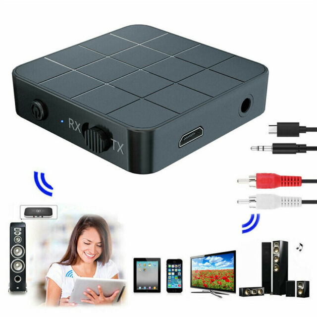 2in1 Bluetooth Transmitter /& Receiver Wireless A2DP Home TV Stereo Audio Adapter