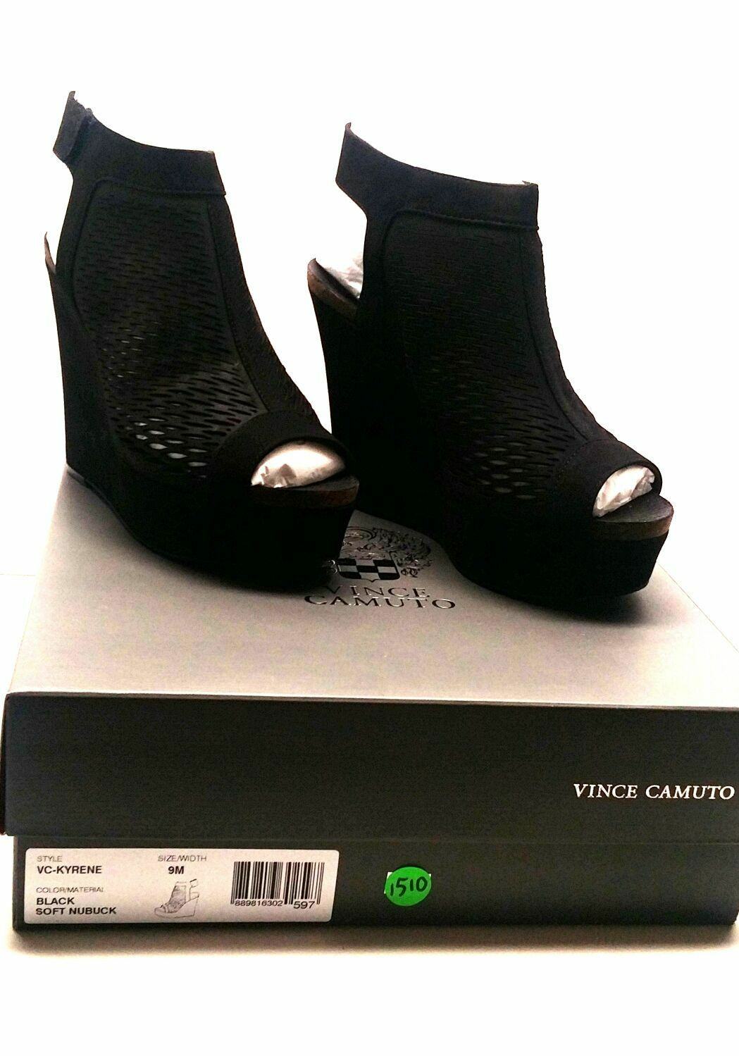 Vince Camuto Kyrene Black Woman Soft Nubuck shoes