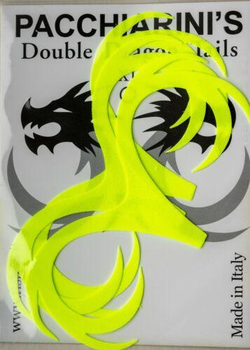Fluo Yellow XL New fly tying Pacchiarini Double Dragon Miuras tail