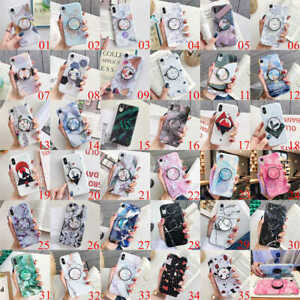 For-iPhone-XS-Max-XR-6s-7-8-Plus-Marble-Pattern-Stand-Holder-Soft-TPU-Case-Cover