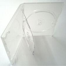 100 x AMARAY ORIGINALE TRIPLO DVD chiaro caso con doppio Vassoio da 14 mm spine Nuovo di Zecca