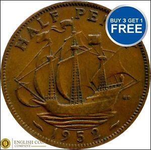 1937 à 1952 george vi half penny/demi pennies choix de l'année/date