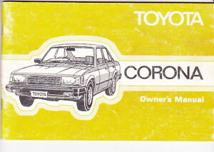 1981 toyota t130 corona australian owners manual sedan wagon ebay rh ebay com au 1979 Toyota Corona 1980 Toyota Corona