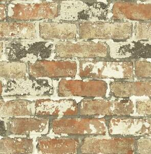 Wallpaper-Designer-Weathered-Multi-Colored-Brick-Smooth-NO-Texture