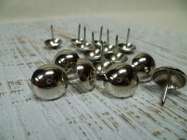 Upholstery Nails - Furniture Studs/Tacks/Pins - 18mm Chrome - 50 Count