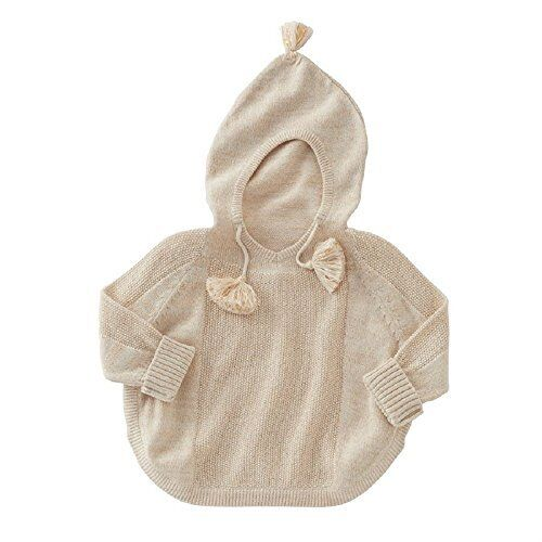 S Mud Pie Lurex Sweater Knit Baby Poncho