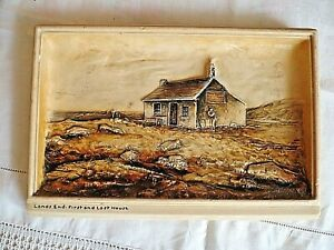 Vintage-Mid-Sized-Osborne-Ivorex-Wall-Plaque-Lands-End-First-and-Last-House