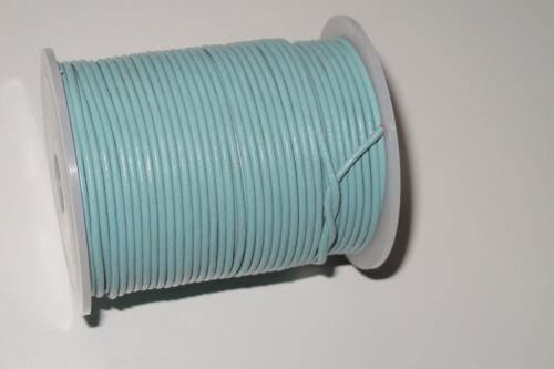Büffel Lederband 100 50 25 m Meter Rolle 1 1,5 2 3 mm Lederriemen bunte Farben