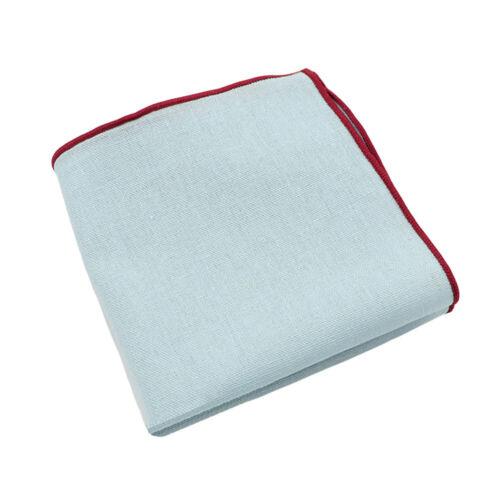 Men's Linen Cotton Plain Color Pocket Square Wedding Handkerchief Party Hanky