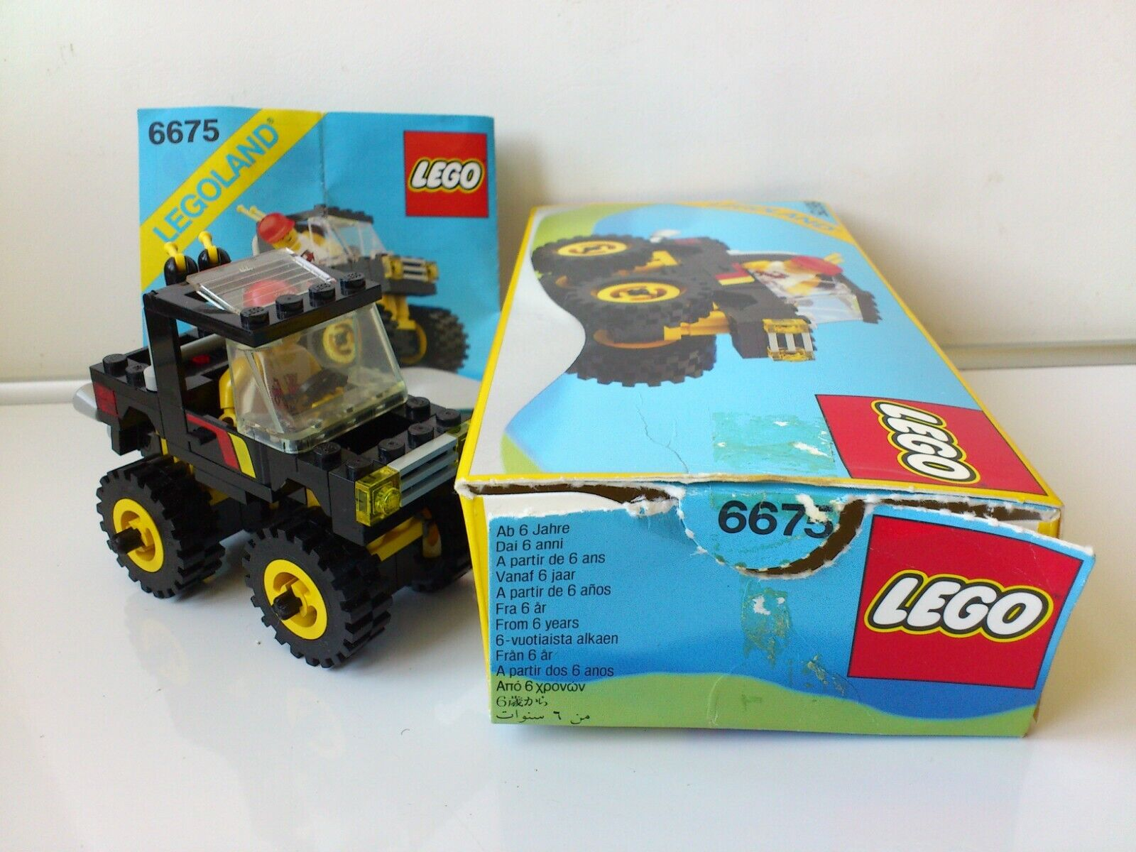 Lego vintage set. Legoland Legoland Legoland no 6675.Four-wheel drive.100 % w. box and manual.1988 b30128