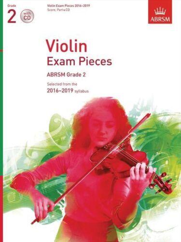 ABRSM Violin Exam Pieces 2016 2019 Grade 2 Score Part /& CD Play MUSIC BOOK