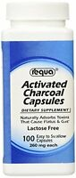 6 Pack - Activated Charcoal Capsules Requa 100 Capsules Each on sale