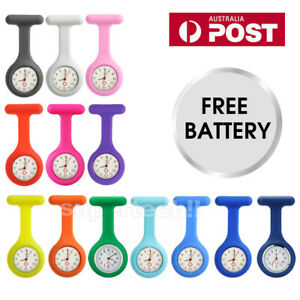 Silicone-Nurse-Brooch-Tunic-Fob-Watch-Nursing-Nurses-Pendant-Pocket-Watch-OZ
