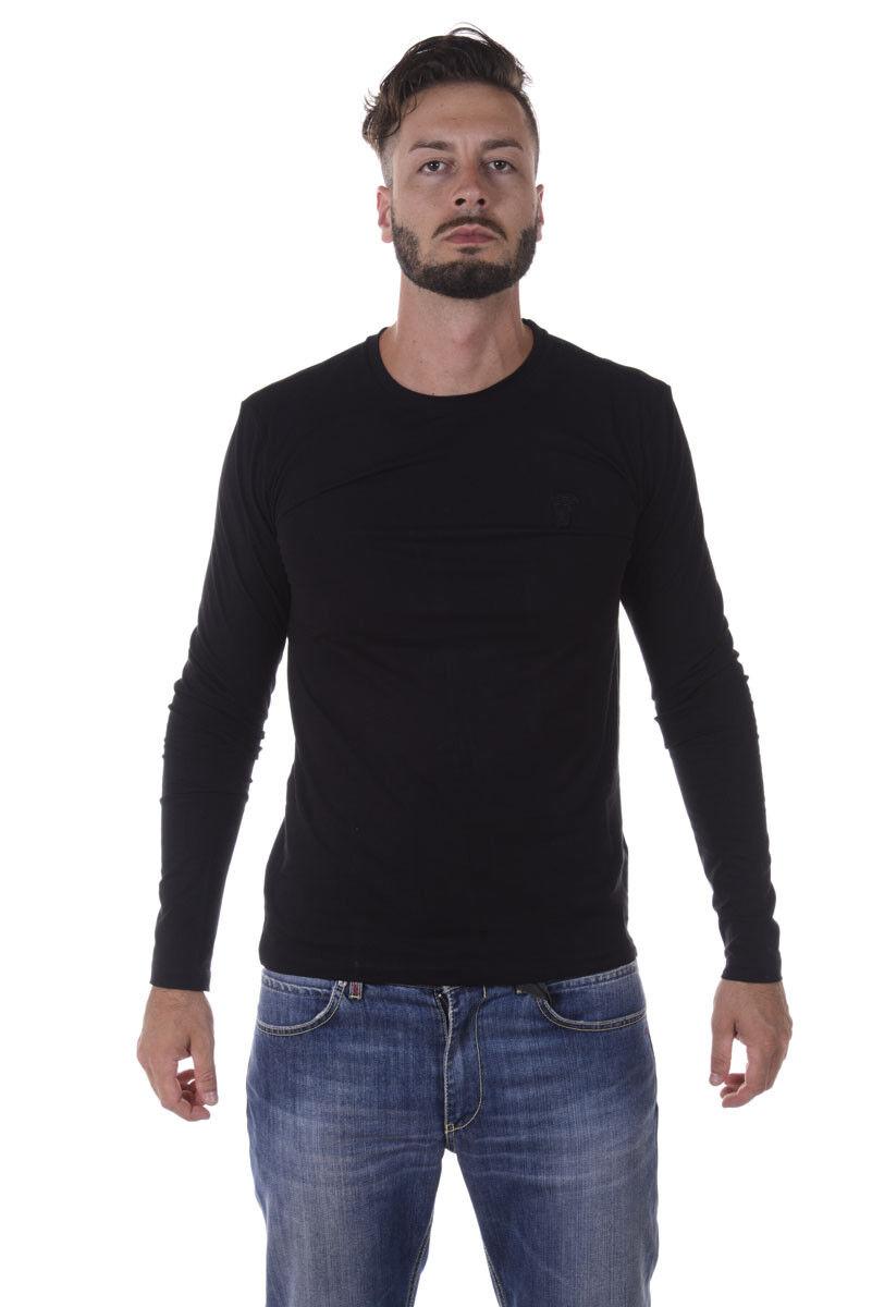 Versace COLLECTION camiseta  Algodón Sudadera Hombre Negros V800491VJ00180 V1008  alta calidad general
