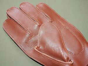 Antique-1880s-Style-RUSSET-LEATHER-FULL-FINGER-034-WORKMAN-034-BASEBALL-GLOVE-Repro