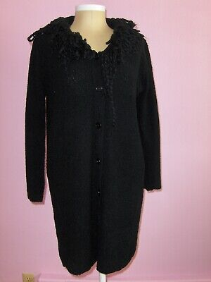 Medieval Goth Pagan Robes Pirate Hoodie Knit Long Cardigan Sweater Top XS S M L