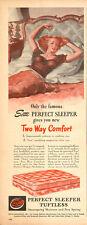 1946 vintage AD SERTA Perfect Sleeper Tuftless Mattress Pinup gal in bed  121815