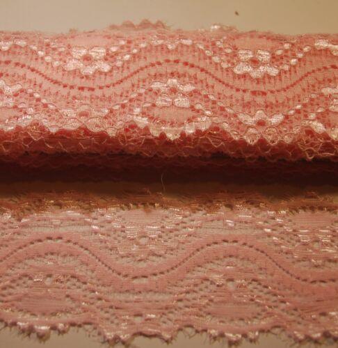 1-4Meter Spitze Polyester Spitzenband elastisch 21 Farben Spitzenbesatz 5,5cm