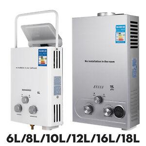 8 litres Chauffe eau au Gas LPG instantané à gaz propane 16KW Chaudière