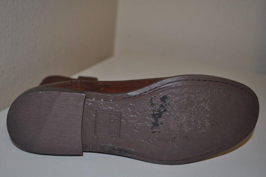 FRYE ANNA SHORTIE Cognac Leather Boot Biker Riding Bootie Shoe Sz 5.5 M