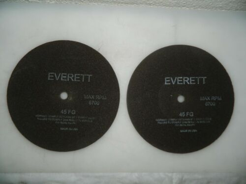 "Everett Reinforced Cutoff Wheel 2 Pack 8/"" Dia Aluminum Oxide 45FG-8"