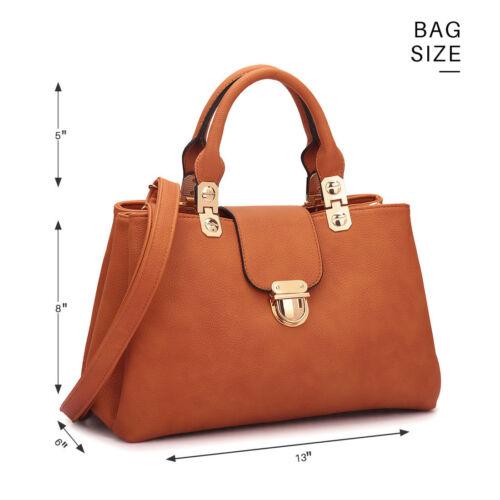Women Handbag Faux Leather Medium Satchel Shoulder Bag Elegance Purse