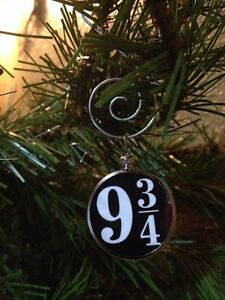 """Harry Potter Saying doublesided Silver 1.25/"""" Ornament Mischief Managed Black 1B"""