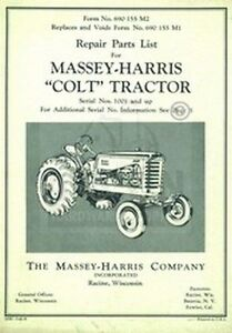 MASSEY-HARRIS-Colt-Tractor-Repair-Part-List-Manual