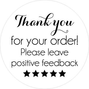 Thank You For Your Order >> 240 Thank You For Your Order Sticker Labels Ebay