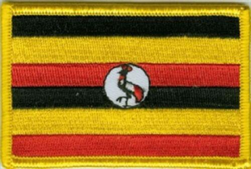 Ricamate Uganda bandiera bandiera aufbügler Patch 8 x 5 cm