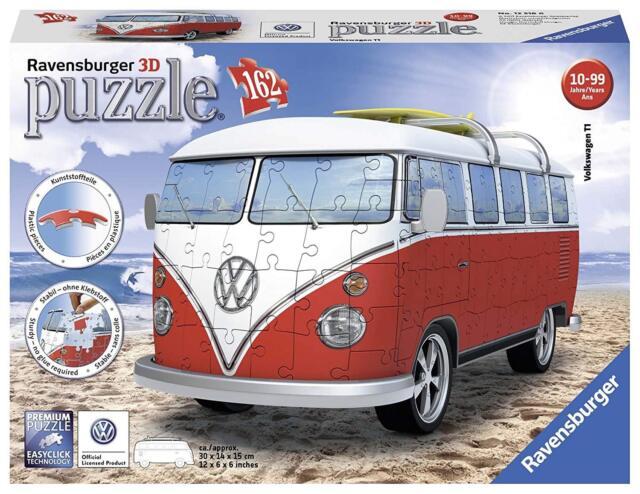 Ravensburger VW T1 Camper Van, 162pc 3D Jigsaw Puzzle