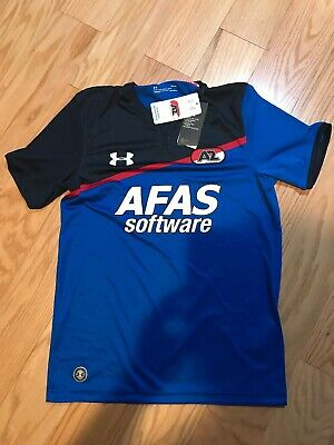 Black Large New Under Armour UA Men/'s AZ Alkmaar Away Shirt