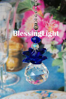 Special Edition- Blue Angel Lead Glass Crystal Ceiling Fan Pull