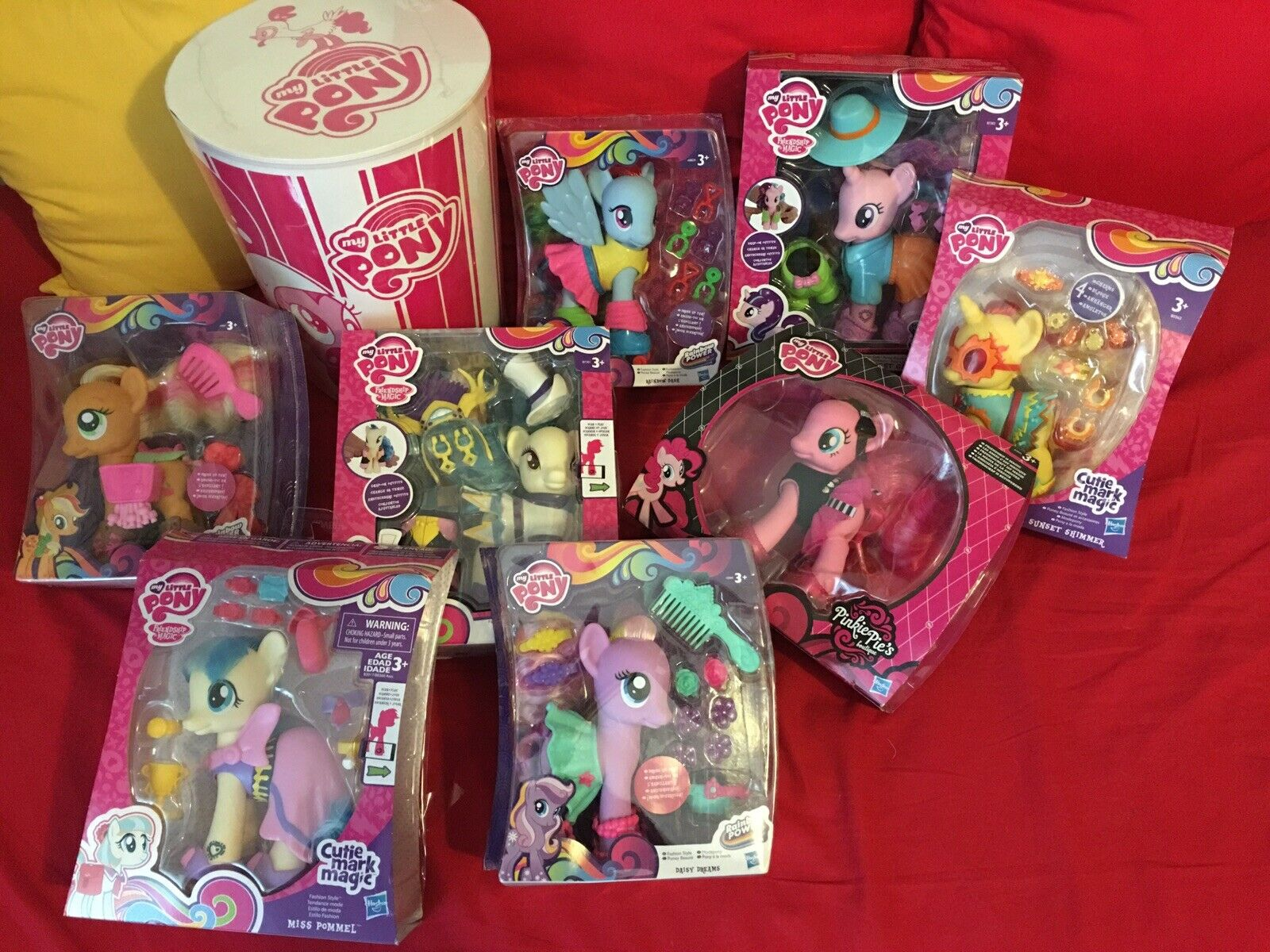 My little pony Lot of 9 fashion ponies rare never openes g4 lot