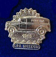 HTF Historical 1946 Calgary Police Car Van Truck Beautiful 3D Relief Lapel Pin
