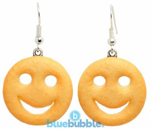 Bluebubble American Diner sonriente Cara Pendientes Novedad Comida basura Kitsch Kawaii