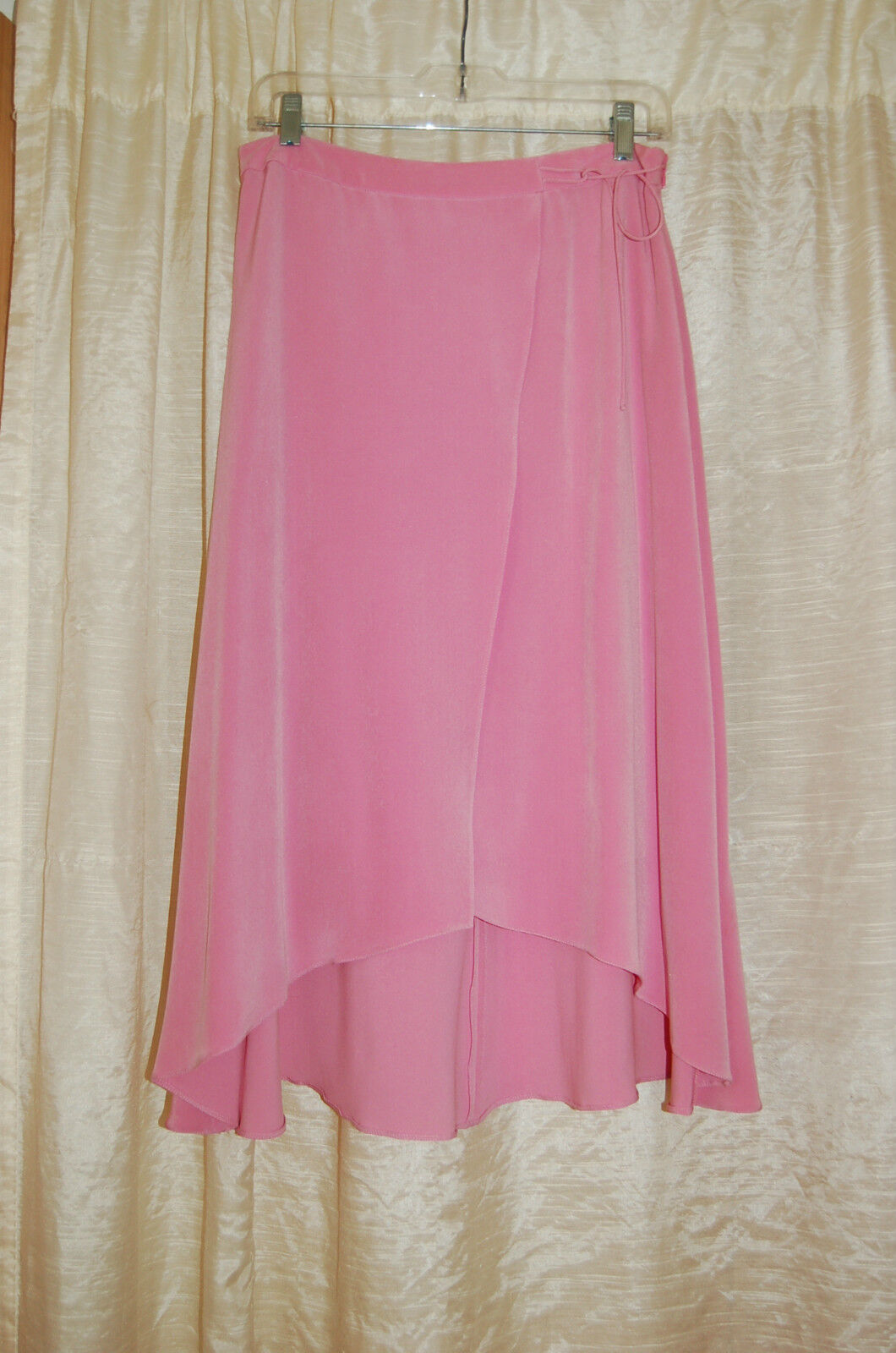 Giorgio Armani Pink Silk Asymmetrical Skirt Size 44 Made in