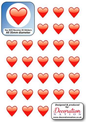 Red Love Heart STICKERS Decoration Fun Kids Adults Emoji Scrapbook Cute