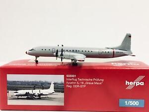 Herpa Wings 1:500  Ilyushin IL-18  Interflug  DDR-STP   533331  Modellairport500