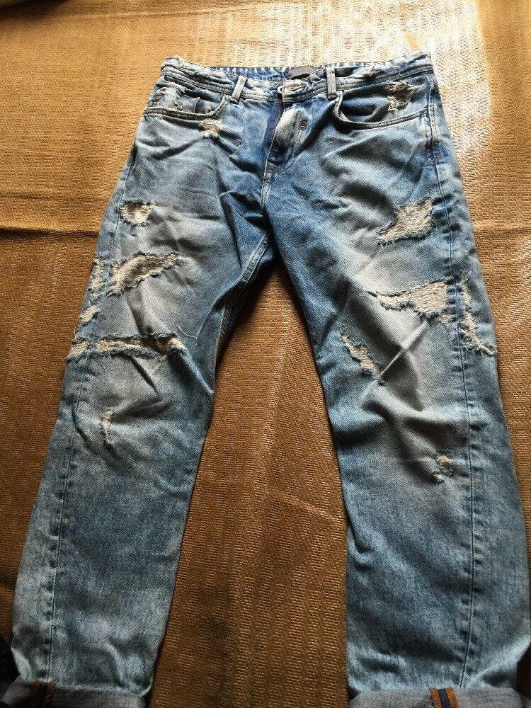 ZARA JEANS Denim Collection Men's Light Wash Denim Jeans SIZE 31