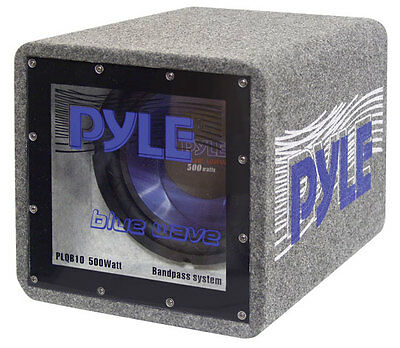 Pyle PLQB8 - 8 Inches 400 Watts Bandpass Enclosure System, 4 Ohms Subwoofer