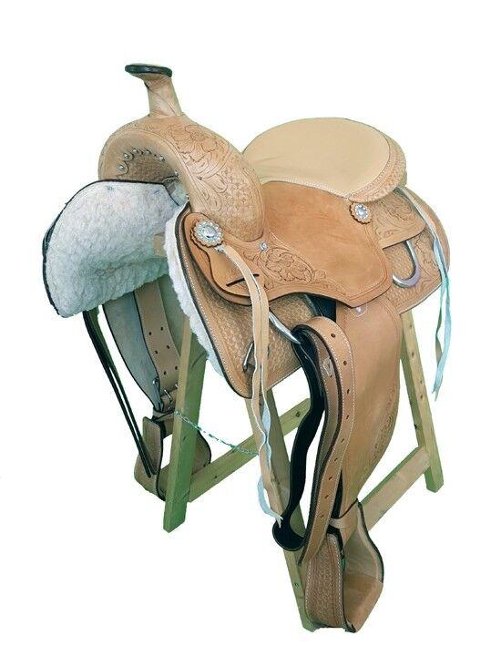 Western sillín denver de cuero de búfalo de alta calidad nuevo