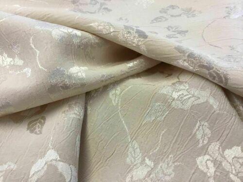 New Designer Gorgeous Cream Colour Floral Satin Jacquard Fabric Dress 61/'/'156cm