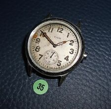 35)⌚ ELGIN 40er Vintage Military Watch WW II WK 2 US Army Parts Case Mouvement