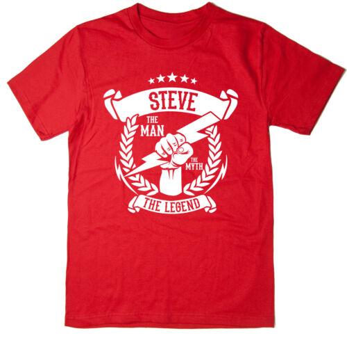 la légende T-Shirt-Noël Idée Cadeau le mythe Steve-l/' homme 6 Couleurs