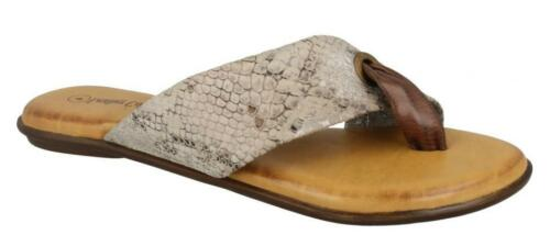 Ladies leather collection flat toe post Sandal F0R0128