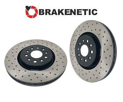 BRAKENETIC PREMIUM Cross DRILLED Brake Disc Rotors 280mm BNP39019.CD FRONT SET